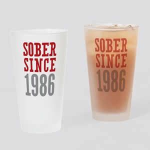 Sober Since 1986 Drinking Glass