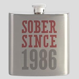 Sober Since 1986 Flask