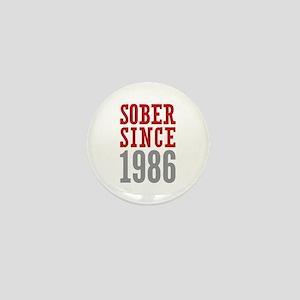 Sober Since 1986 Mini Button
