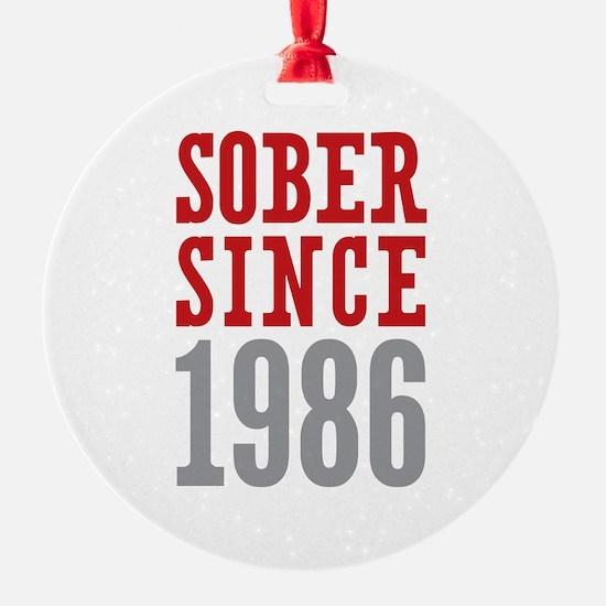 Sober Since 1986 Ornament