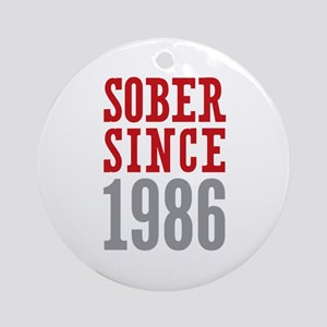 Sober Since 1986 Ornament (Round)