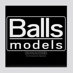 Balls Models Tile Coaster