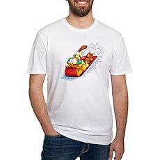 Sledding Fun! Fitted T-Shirt