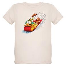 Sledding Fun! Organic Kids T-Shirt