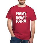 I Love My Nana and Papa Dark T-Shirt