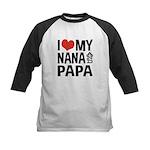 I Love My Nana and Papa Kids Baseball Jersey