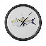 Menhaden Bunker fish Large Wall Clock