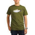 Menhaden Bunker fish Organic Men's T-Shirt (dark)