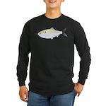 Menhaden Bunker fish Long Sleeve Dark T-Shirt