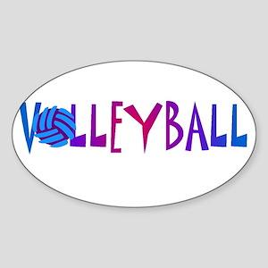 VOLLEYBALL1 Sticker (Oval)