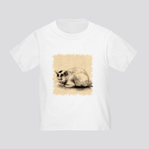 Domestic Cat Japanese Ink Drawing Toddler T-Shirt