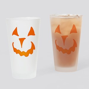 Pumpkin Face Drinking Glass