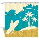 Surfing Shower Curtains