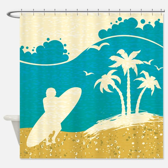 Surfer at the Beach Shower Curtain