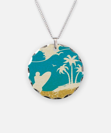 Surfer at the Beach Necklace