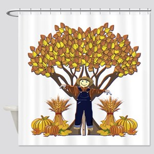 Autumn Scarecrow Shower Curtain