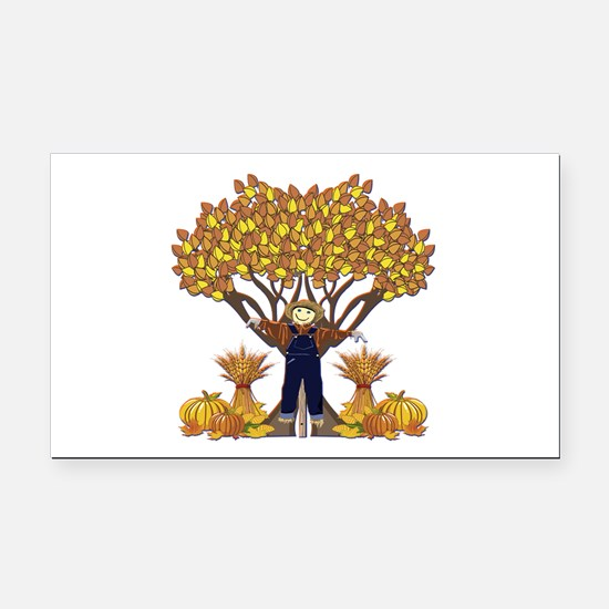 Autumn Scarecrow Rectangle Car Magnet