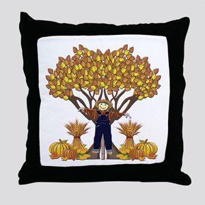 Autumn Scarecrow Throw Pillow
