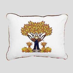 Autumn Scarecrow Rectangular Canvas Pillow