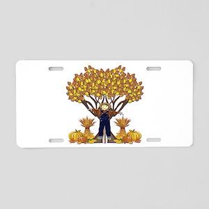 Autumn Scarecrow Aluminum License Plate