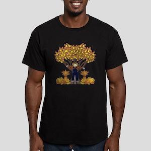 Autumn Scarecrow Men's Fitted T-Shirt (dark)