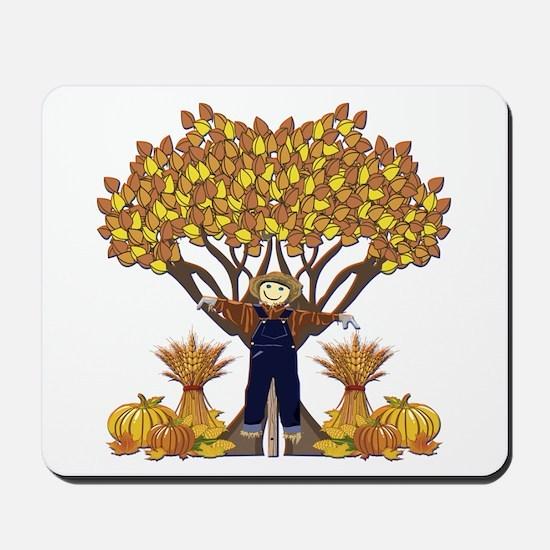 Autumn Scarecrow Mousepad