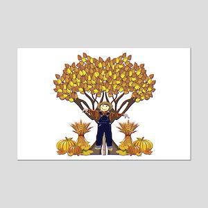Autumn Scarecrow Mini Poster Print