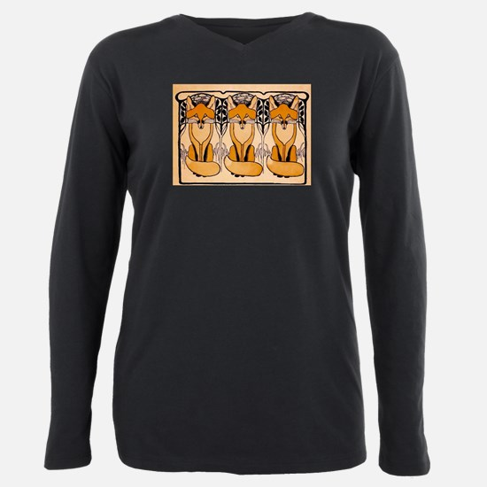 Art nouveau foxes T-Shirt