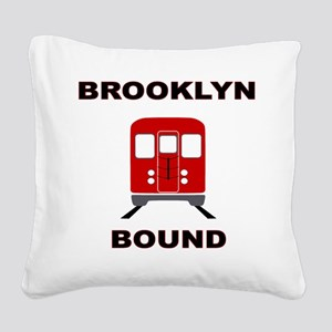 Brooklyn Bound Square Canvas Pillow