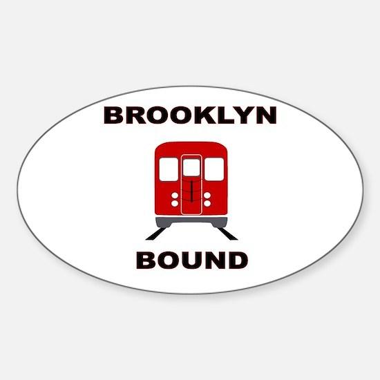 Brooklyn Bound Sticker (Oval)
