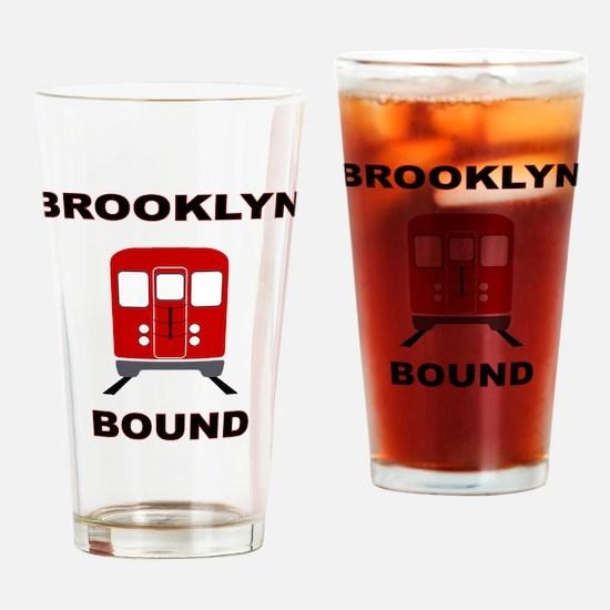 Brooklyn Bound Drinking Glass