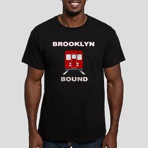 Brooklyn Bound Men's Fitted T-Shirt (dark)