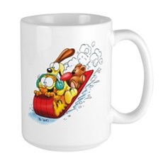 Sledding Fun! Large Mug