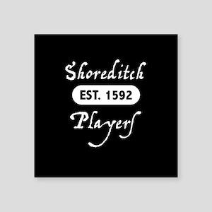 "Shoreditch Players Square Sticker 3"" x 3"""