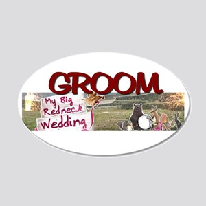 groom 20x12 Oval Wall Decal
