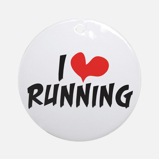 I heart (love) running Ornament (Round)