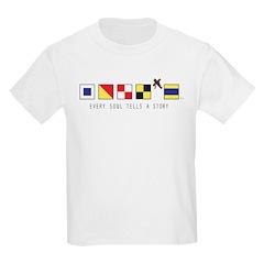 Children's US Navy Ship Flags T-Shirt