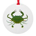 Blue Crab Round Ornament