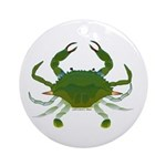 Blue Crab Ornament (Round)