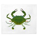 Blue Crab King Duvet