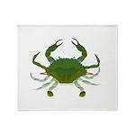 Blue Crab Throw Blanket