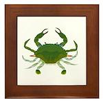 Blue Crab Framed Tile