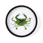Blue Crab Wall Clock