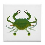Blue Crab Tile Coaster
