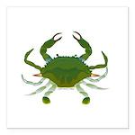 Blue Crab Square Car Magnet 3
