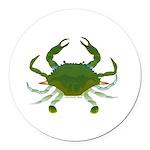 Blue Crab Round Car Magnet