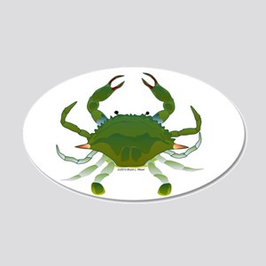 Blue Crab 20x12 Oval Wall Decal
