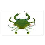 Blue Crab Sticker (Rectangle 50 pk)