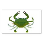 Blue Crab Sticker (Rectangle 10 pk)