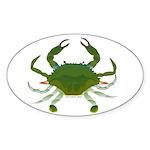 Blue Crab Sticker (Oval 50 pk)